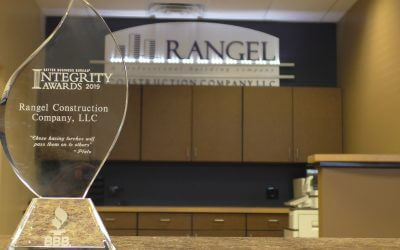 Rangel Construction Company wins Better Business Bureau Integrity Award for 2019